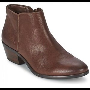 Women's Sam Edelman Petty Bootie Brown Leather 6.5